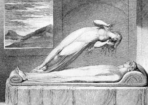 Schiavonetti, 'Soul Leaving the Body' (1808).