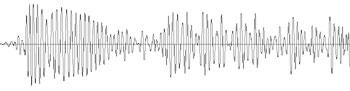 Borley church knock sound wave - rises to crescendo