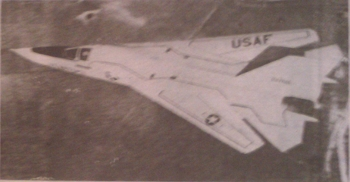A picture of an F111, as printed by the newspaper.